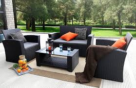 4 Piece Wicker Patio Furniture - amazon com baner garden n87 4 pieces outdoor furniture complete