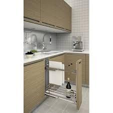 rangement coulissant meuble cuisine rangement coulissant avec porte torchon accessoires cuisines