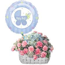 balloons and gifts delivered baby boy baby shower flowers with balloon new baby gift newborn