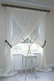 overlapping sheer panels window treatments pinterest sheer