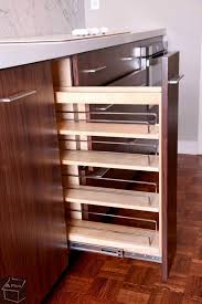 Pull Out Spice Rack Cabinet by Modern Pantry With Cherry Stain Finish By Aplus Interior Design