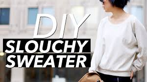 how to make a slouchy sweater crew neck raglan sleeve