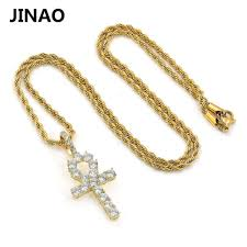 aliexpress com buy jinao hip hop ankh cross pendant necklace