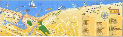 Gulf Of Aqaba Map Map Of Main Eilat Hotel Area Trip Middleeast Pinterest Eilat