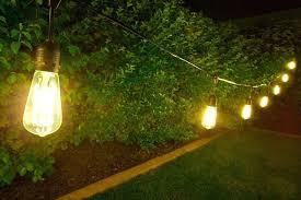led edison string lights edison bulb patio string lights image of decorative led outdoor