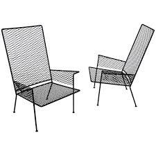 Outdoor Metal Chairs Pair Of Expanded Metal Chairs By Hendrik Van Keppel U0026 Taylor Green