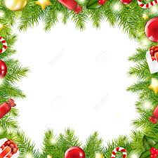 christmas tree border vector illustration royalty free cliparts