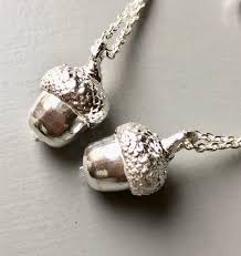 real silver necklace images Mini solid silver acorn necklace cast from a real acorn by magnus jpg