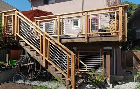 deck railing designs explore the materials