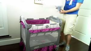 Mini Crib Vs Bassinet by Hd Graco Travel Lite Crib With Stages Video Review Youtube