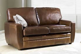 Sofa Sleeper Leather Great Brown Leather Sofa Sleeper Living Room Leather