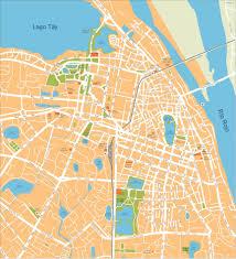 vector maps hanoi vector map eps illustrator vector maps of asia cities eps