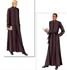 Church Halloween Costumes Clergy Robe Cassock Sewing Pattern Gothic Church Choir Robes