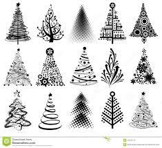 modern christmas modern christmas trees stock illustration illustration of merry