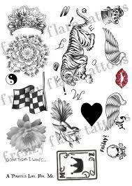 zayn malik inspired temporary tattoos 2017 complete set 2
