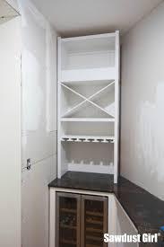 Wine Storage Cabinet Installing A Wine Storage Cabinet Part 2 Sawdust Girl