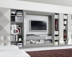 Tv Wall Units Contemporary Tv Wall Unit Lacquered Wood Oak Walnut