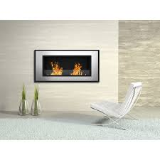 elite flame tulsa ventless bio ethanol wall mounted fireplace