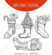 christmas stocking sock decoration vector u0026 photo bigstock