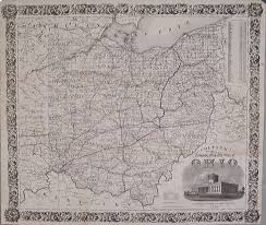 Vintage United States Map by Antique Maps Of Ohio