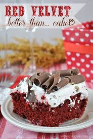 better than valentine u0027s day red velvet poke cake something swanky
