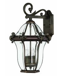 Lantern Style Outdoor Lighting by Hinkley Lighting 2444 San Clemente 12 Inch Wide 3 Light Outdoor