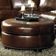 Leather Ottoman Cocktail Table Ottoman Leather Etechconsulting Co