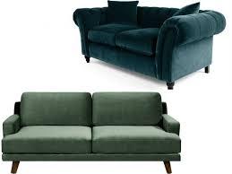 canapé vert inspirations à la maison impressionnant canapé en velours entre
