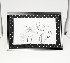 Bride To Groom Wedding Card Wedding Card Handmade Mr And Mrs Cat Newlyweds Tie Art And Cat