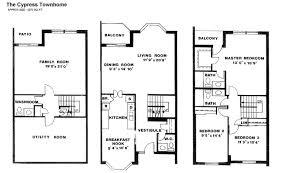 townhome floor plans floor plan bedroom luxury townhouses for rent four bedroom house