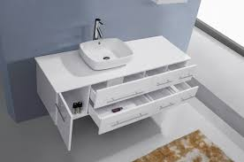 59 Bathroom Vanity by Virtu Usa Justine 59 Single Bathroom Vanity Set In White