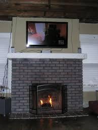 1914 foursquare brick fireplace restoration