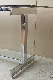 bureau chrome bureau plaque de bureau en verre fresh plateau bureau verre