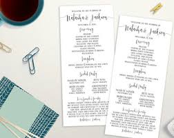 sided wedding programs printable best day wedding program 5x7