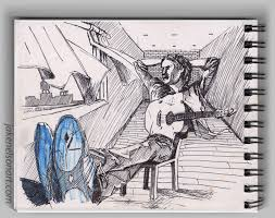 concept sketch 6 of 7 u2013 guitar man u2013 jake nelson art
