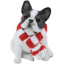 bulldog ornament santa s pals with