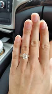2 5 Cushion Cut Diamond Engagement Ring Show Me Your 2 5 Or 3 Carat Cushion Cut Diamond Weddingbee