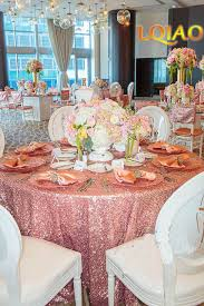 sequin table runner wholesale factory directly wholesale 15pcs wedding decorative pink gold silver