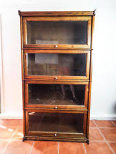 Long Low Bookcase Wood Antique Bookcases Ebay