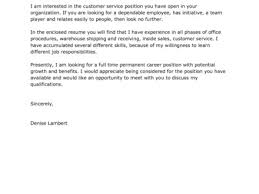 18 simple cover letter examples for customer service cover