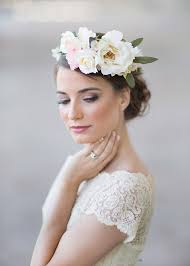 floral headpiece ivory wedding flower crown bridal headpiece 2227135 weddbook
