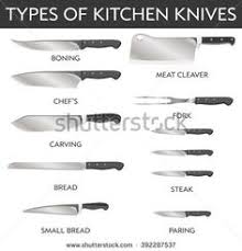 different kitchen knives a chopping carrots apron blade carrot cheerful chefsknife