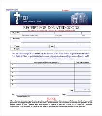 donation receipt template 18 free sample example format