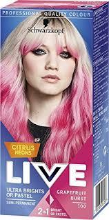 hair burst complaints schwarzkopf live ultra brights or pastel citrus neons grapefruit