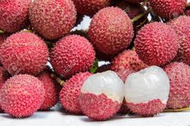 The Lychee Fruit With White Back Ground Stock Photo Picture And