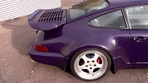 purple porsche 911 turbo porsche 911 turbo 3 6 ez 09 1993 82 tkm youtube