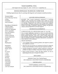 Central Service Technician Resume Sample by Medical Technician Resume Example Resume Examples