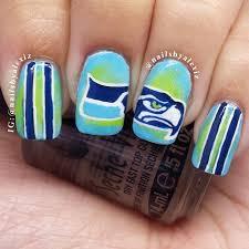 271 best seahawk fanicure manicures images on pinterest seattle