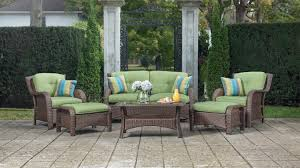 6 Piece Patio Set by Sawyer 6pc Resin Wicker Patio Furniture Conversation Set Green