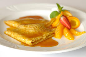 cuisine crepe crepe suzette stock image image of cuisine orange pancakes